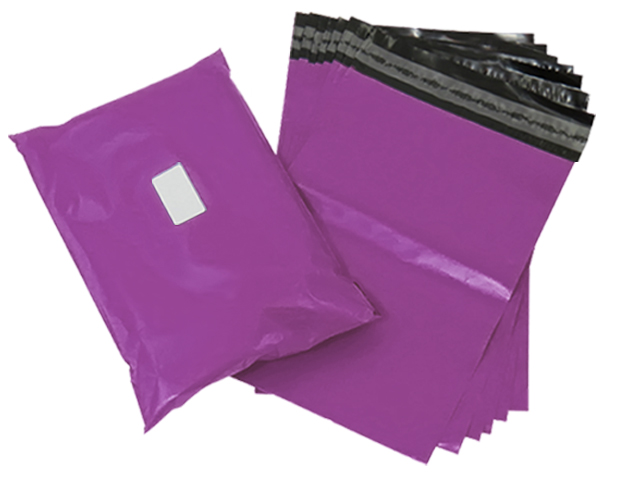 "100 x Strong Purple Postage Poly Mailing Bags 6"" x 9"" - 165x230mm"